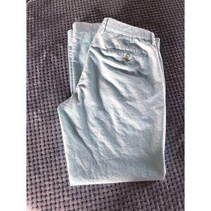J. Crew Light Mint Green Chino Pants 33x32